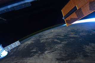 "Astronaut Ron Garan, Expedition 28 flight engineer, tweeted this image from the International Space Station in August, 2011 with the following caption: ""What a `Shooting Star' looks like from space, taken yesterday during Perseid Meteor Shower."". Credits: NASA"