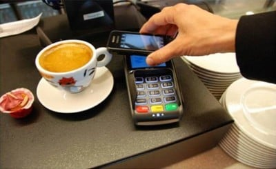 Mobile payment reader. Image credit: Gary Stevens, Hosting Canada (published with permission)