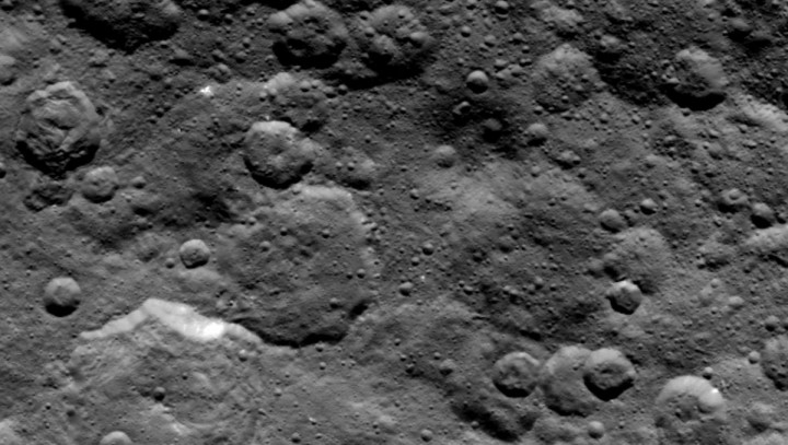 Craters in the northern hemisphere of dwarf planet Ceres are seen in this image taken by NASA's Dawn spacecraft on June 6, 2015. Credits: NASA/JPL-Caltech/UCLA/MPS/DLR/IDA