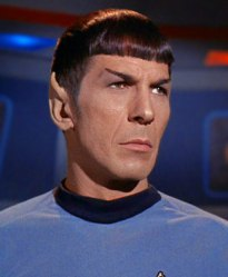 Leonard Nimoy as Mr. Spock. Credit: CBS Television
