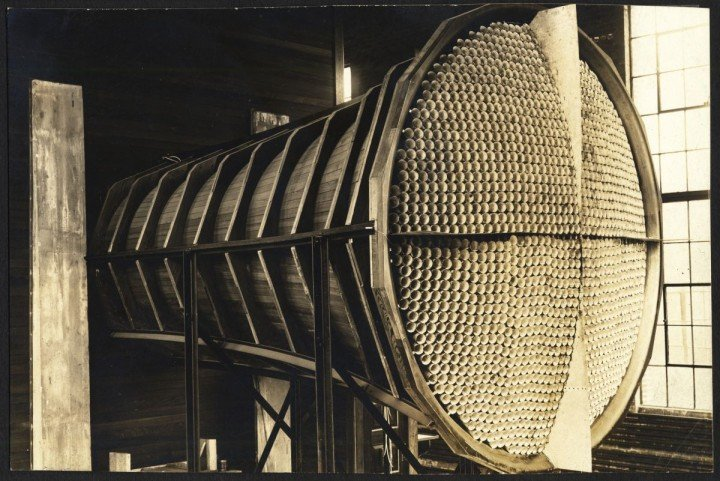When Langley was formed, the United States was far behind Europe in aeronautical technology, and Langley's first wind tunnel housed in Building 60 was essentially a replica of a 10-year-old British wind tunnel. The Langley tunnel, known as the 5-Foot Atmospheric Wind Tunnel was virtually obsolete even before it began operations. Credits: NASA