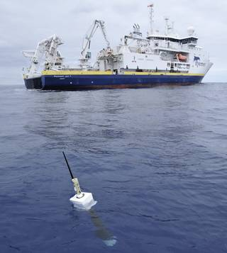 The new study used ocean temperature measurements from a global array of 3,500 Argo floats and other ocean sensors. Credits: Argo Program, Germany/Ifremer