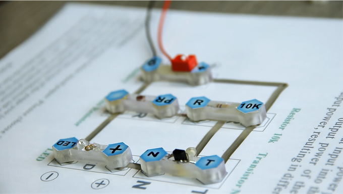 """An """"automatic light"""" circuit using Nectro adaptor and Nectro circuit templates."""