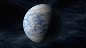 An artist's rendition of Kepler-69c, a planet approximately 70 percent larger than Earth orbiting a star approximately 2,700 light years from our solar system. Image credit: NASA Ames, Jet Propulsion Laboratory, Caltech.