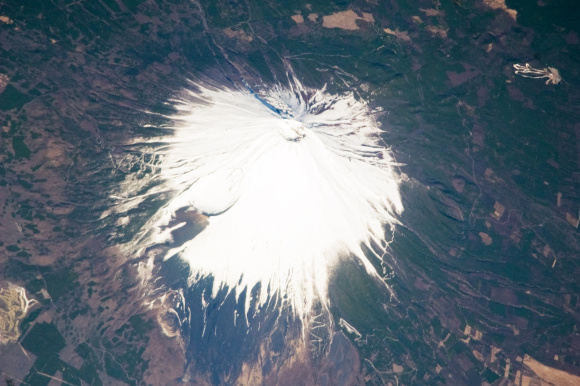 Mount Fuji, Japan, as seen from the ISS. Credit: NASA