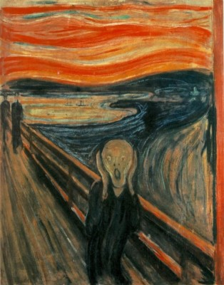'The Scream' by Norwegian painter Edvard Munch is considered one of the world's best-known paintings alongside da Vinci's 'Mona Lisa' and Van Gogh's series of sunflower paintings.  © in the public domain