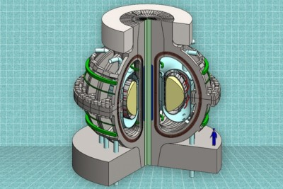 A cutaway view of the proposed ARC reactor. Thanks to powerful new magnet technology, the much smaller, less-expensive ARC reactor would deliver the same power output as a much larger reactor. Illustration courtesy of the MIT ARC team