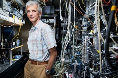 MIT Professor Wolfgang Ketterle is an expert in trapping and cooling atoms to temperatures close to absolute zero. In 2001 he received a share of the Nobel Prize in physics for achieving Bose–Einstein condensation in dilute gases. Photo: Bryce Vickmark
