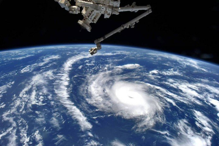 NASA Astronaut Scott Kelly took this picture of Hurricane Danny on August 20 at 6 a.m. EDT from aboard the International Space Station. Credits: NASA