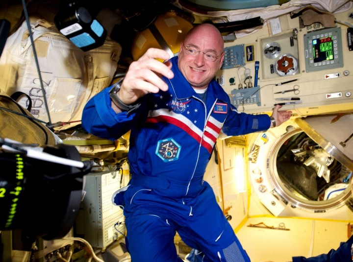 NASA astronaut Scott Kelly arrives aboard the International Space Station on March 28, 2015. Now, 50 years after Gemini V, Kelly and Russian cosmonaut Mikhail Kornienko are in the midst of a one-year stay in orbit. By doubling the length of the usual ISS stay, researchers hope to better understand how the human body reacts and adapts to longer-duration spaceflight. Credits: NASA