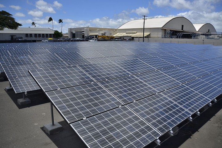 Solar panels. Image credit: U.S. Navy via Flickr, CC BY 2.0