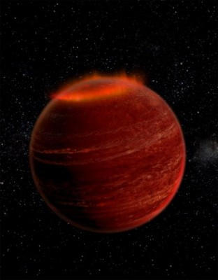 Artist's impression of an auroral display on a brown dwarf. Credit: Chuck Carter and Gregg Hallinan/CaltechArtist's impression of an auroral display on a brown dwarf. Image credit: Chuck Carter and Gregg Hallinan/Caltech
