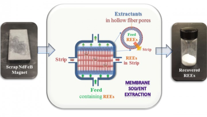 A membrane solvent extraction system developed through the Department of Energy's Critical Materials Institute can help recover and recycle rare-earth elements found in electronic waste.