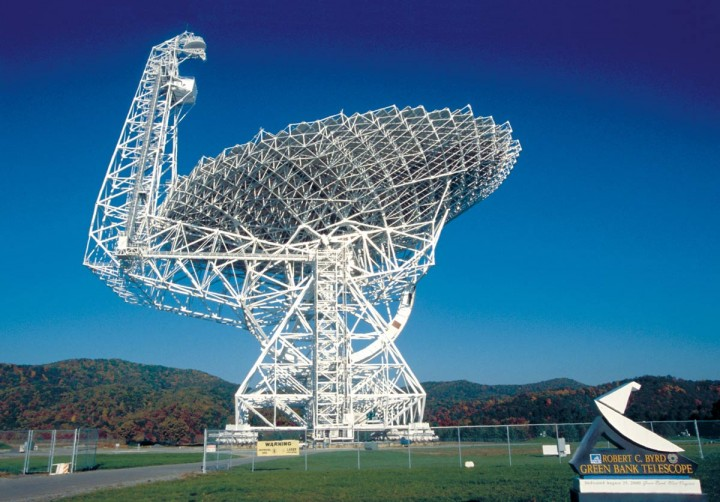 The NSF's Robert C. Byrd Green Bank Telescope, part of the National Radio Astronomy Observatory. Credit: NRAO/AUI/NSF