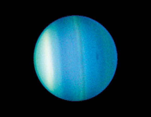 Uranus, as imaged by the Hubble Space Telescope. Image credit: NASA/Hubble
