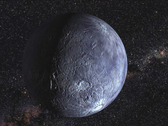 Artist's impression of the Kuiper Belt Object and possible dwarf planet Quaoar. Credit: reborbit.com