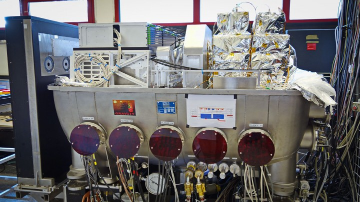 The picture shows the instrument under test at the Paranal Observatory in July 2015. Credit: MPE/GRAVITY team
