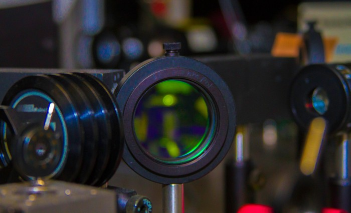 Using the ultra-short-pulse Callisto laser system at LLNL's Jupiter Laser Facility, a team of scientists from LLNL and UCLA revealed new, never-before-seen electron ring formations. Photo by Julie Russell/LLNL