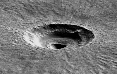 A digital terrain model of the crater that the UA's Ali Bramson investigated. Image credit: American Geophysical Union