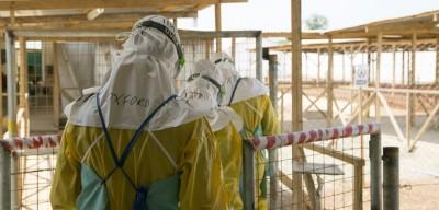 Oxford researchers taking part in an Ebola drug trial Prof Peter Horby