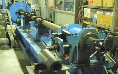 Figure 2: Single stage propellant gun at National Institute for Materials Science Japan used for the hypervelocity impact experiments.