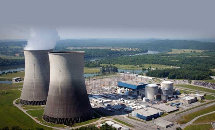 For years, scientists have been searching for materials that could better withstand the temperatures and radiation within nuclear reactors, like the TVA Watts Bar Nuclear Power Plant shown here. New research has exposed the shortcomings of nanostructured materials as a panacea for reactor components. Photo courtesy of Tennessee Valley Authority.