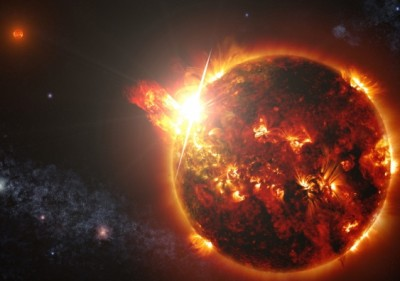 """Red Dwarfs – """"A lot of telescopes will be turned toward them in the next few years to look for planets"""". Image credit: NASA's Goddard Space Flight Center/S. Wiessinger"""