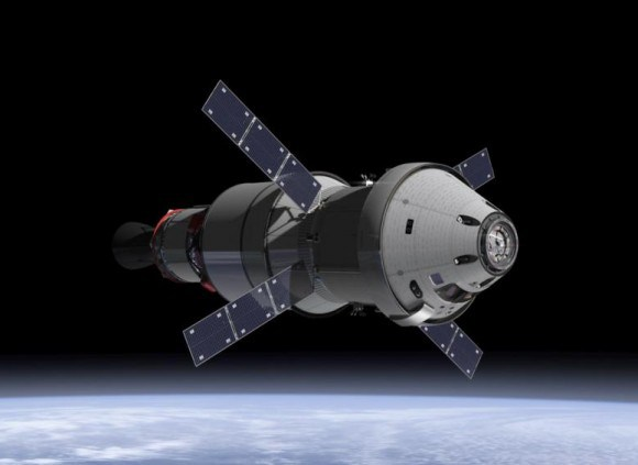 NASA Orion spacecraft blasts off atop 1st Space Launch System rocket in 2018 – attached to European provided service module – on an enhanced uncrewed mission to Deep Space where an asteroid could be visited in the mid 2020s. Credit: NASA