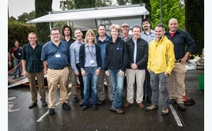 Lab-at-Rig® development team with researchers from CSIRO, Imdex and Olympus.