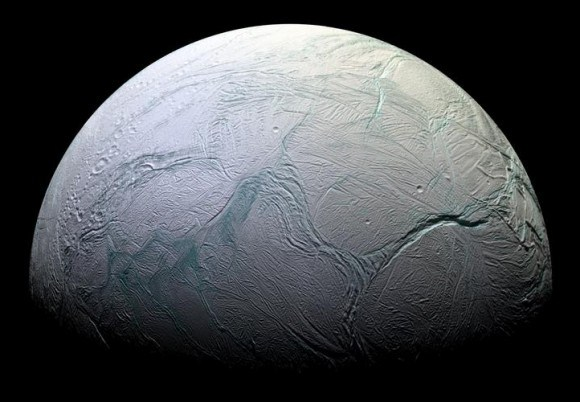 Saturn's moon of Enceladus. Credit: NASA/JPL/Space Science Institute