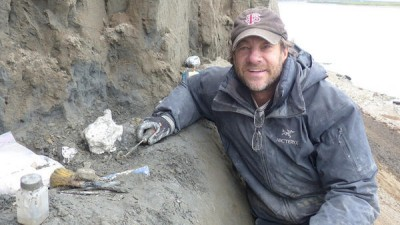 FSU researcher Greg Erickson and the research team had to rappel down to the dig site.