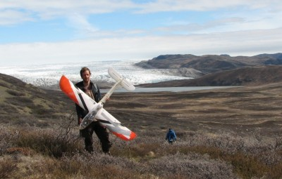Penn State graduate student Jeff Kerby used drones for his ecological research in Greenland and is sharing his expertise to enhance research and conservation efforts worldwide. Image credit: Martin Holdrege