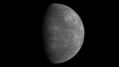 This image of Mercury, the innermost planet in the Solar System, was created using data acquired during the first flybyof the MESSENGER spacecraft in 2008. It is made up of hundreds of individual images. Photo credit: NASA