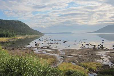 Lake Melville, seen from Rigolet. The lake, which is the primary source of food for various Indigenous communities, is downstream from the site of a proposed hydroelectric dam. Photo courtesy of Harvard University