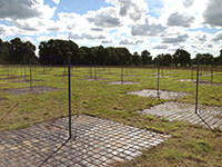 A total of 192 antenna assemblies composed of more than 3,000 individual antennas in a field.
