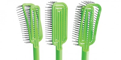 Researchers at The Ohio State University have designed a hairbrush that's easy to clean. Image credit: Scott Shim.