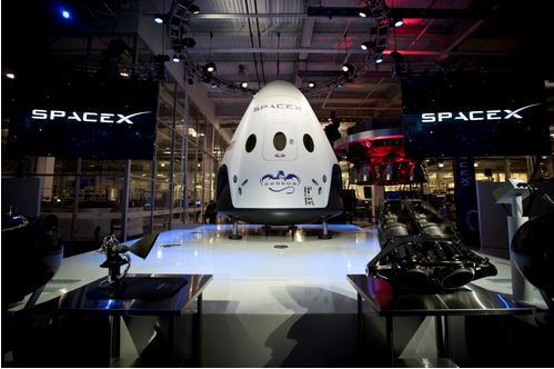 Exterior of the Crew Dragon capsule. Credit: SpaceX.