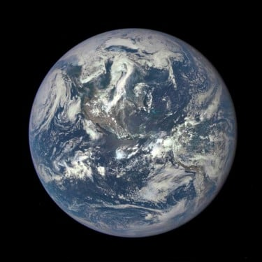 The Earth as seen by the Polychromatic Imaging Camera aboard NASA's Deep Space Climate Observatory satellite, July 2015. Image credit: NASA