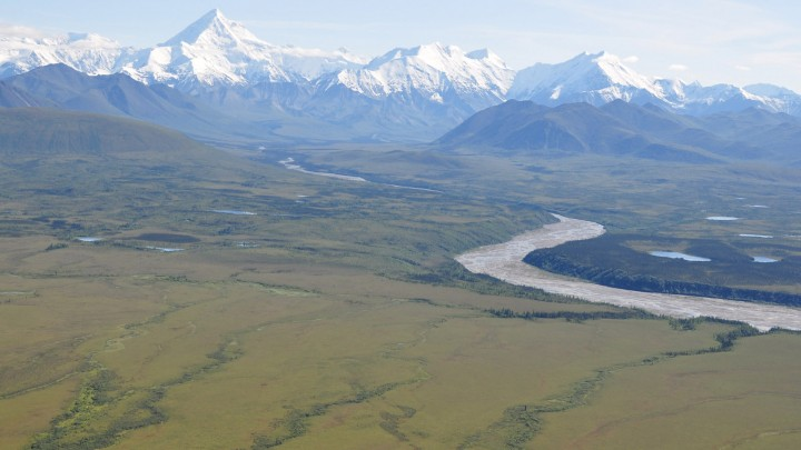 NASA's ABoVE campaign will combine field work, airborne surveys, satellite data and computer modeling to study the effects of climate change on Arctic and boreal ecosystems, such as this region at the base of the Alaska Range south of Fairbanks. Credit: NASA/Ross Nelson