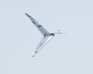 The Prandtl-d makes a test flight in 2014. Credits: NASA / Ken Ulbrich