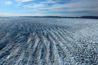 The Greenland Ice Sheet, pictured in 2013. A new UB-led project seeks to better understand how potential changes in Arctic precipitation could affect the ice sheet's health. Image credit: Jason Briner