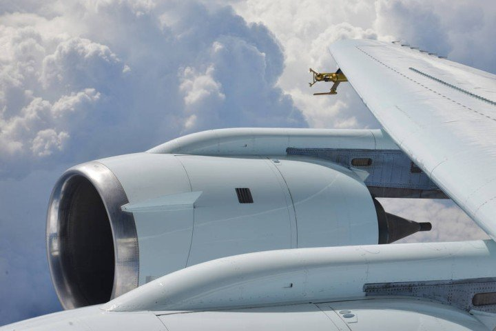 NASA researchers aboard a DC-8 aircraft equipped with special probes flew near storms off the Florida coast to study a unique icing condition and someday make it possible for radar to tell pilots when it's present. Credits: NASA / Peter Merlin