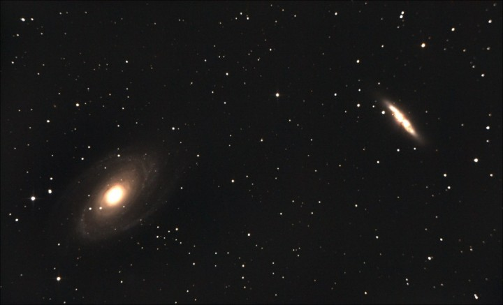 The galaxies Messier 81 and M82. Image credit: Marco Lorrai