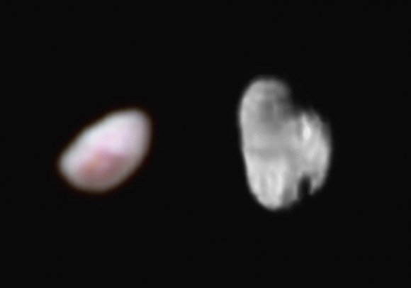 Images acquired by the New Horizon's probe of Nix (left) and Hydra (right) on July 14th, 2015. Credit: NASA/JHUAPL/SWRI