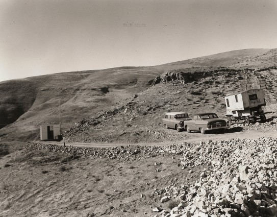"The ""Trim Shack"" on the upper area of Site 300 circa 1955."