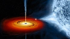 Scientists hope to use neutrino experiments to watch a black hole form. Image: ATLAS collaboration