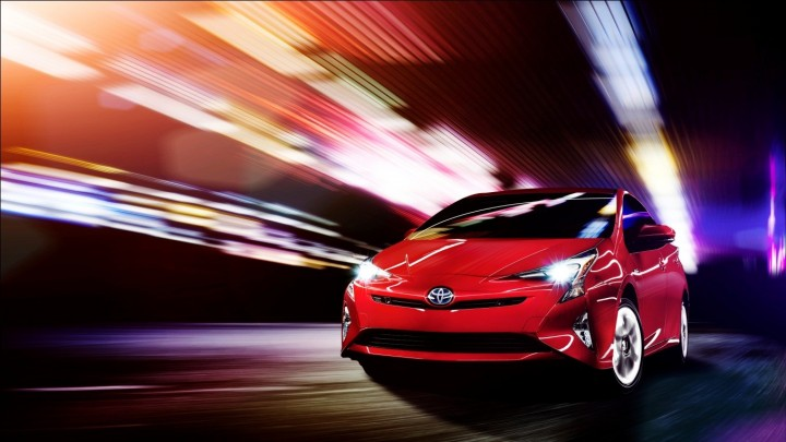 "Design of the new Prius is one of the big news. It retains angular shapes of the older generation, but now looks even more dynamic, especially with this ""Emotional Red"" colour. Image courtesy of newsroom.toyota.co.jp."