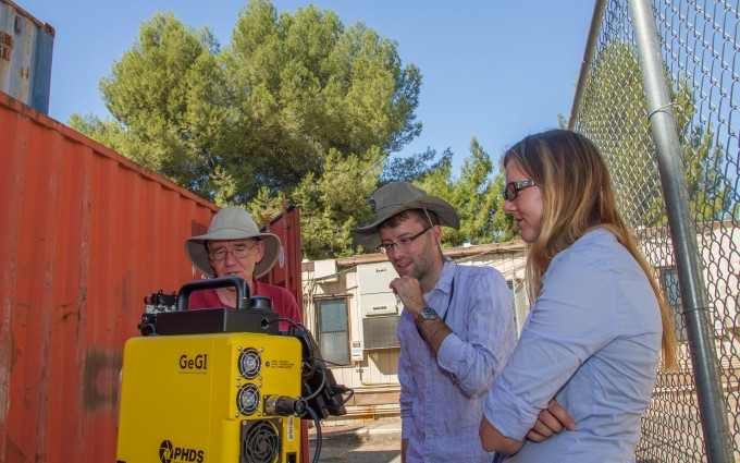 ne of the detectors used during a radiation detection exercise last week was Lawrence Livermore's GeGi germanium gamma-ray imager that has been developed over the past decade. Shown from left are former LLNL employee and current Oak Ridge National Laboratory employee Klaus Ziock, LLNL post-doc Jonathan Dreyer and LLNL graduate student Lena Heffern.