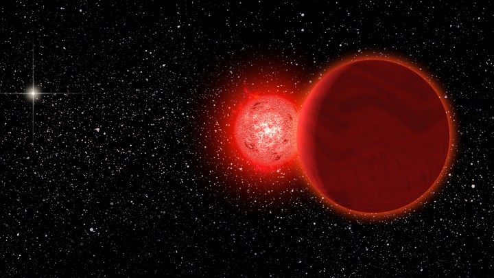 A binary star system Credit: Michael Osadciw/University of Rochester
