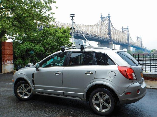 To measure natural gas leaks in the eastern U.S., scientists mounted a detection device on an SUV and cruised 4,000 miles of city streets. Credit: Robert B. Jackson